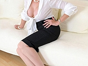 Lady Sonia wears skirt and blouse