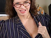 Busty Mature Office Babe June Nude