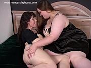 Bbw gives model her first lez sex