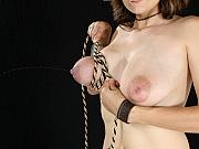 Lactating Latina Daniela bound
