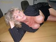 Big tit granny sucks monster cock