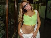 Sexy tranny showing da firm titties