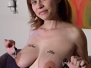 Big tit lactating mom tugs cock