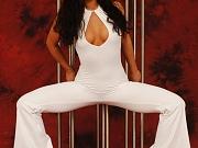Flexiangel Samantha posing in nylon