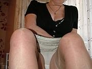 Busty hairy granny upskirt strip