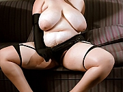 Fat chick Isabelle Lane spreading