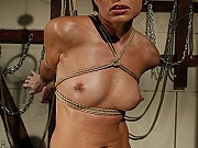 Szilvia Lauren rope bound and toyed