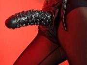 Hot brunette dominating her slave