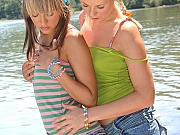 Teens Blue Angel n Yasmin make out