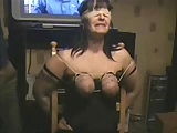 My slut bitch punished. Whipping tits