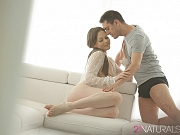 Tina Kay glamorous babe in babydoll blows cock her pussy fucked