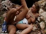 Lydia natural boobs fuck outdoor