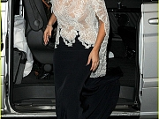 Celebnakedness lady gaga see through to her breasts in a sheer top