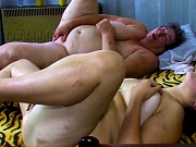 Chubby granny and fat mature loves sucking on dick