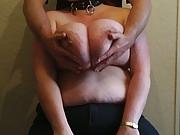 Huge 48M boobs groped