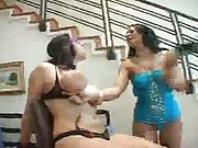 Busty slave gets tits and big ass whipped by mistress