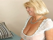 Busty granny gets dick