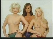 Karen White topless posing