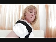 The maid cleans my cock