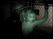 Hottie bangs a prisoner from outside his cell