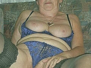 Old chubby fat granny showing her pussy and bigtits
