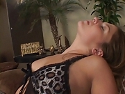 Hottie sucks a big one before getting pounded