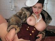 Big busty lady pervert toilet fucking love pearls