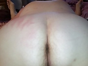 Grabbing her big fat white ass, reverse doggy style,