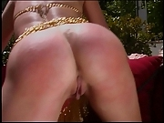Girl getting her nice tight ass whipped