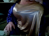 Massive gold satin boobs  50ddds