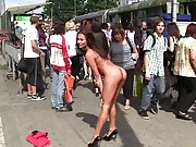 Michelle nude in crowded public streets for xhamster