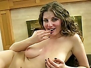 Pretty big tit slut bukkake