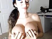 Ariella dripping cum from guys dick