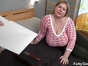 Huge fatty seduces hunky masseur