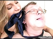 Old Pervert Boss Busty Teen And Mom Office Threesome
