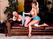 Adriana Sephora & Spencer Scott busty lesbians lick each other