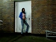 Sandralein33 smoking Outdoor in Jeans