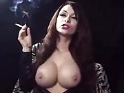 UK Babe Dom & Smoking