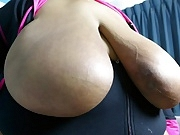 Big Tit BBW Jerk Off Challenge: Black vs White - Who Wins?