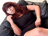 Busty Brunette Smoking,  Blowing,  Anal And A Facial