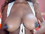 Real natural black & ebony colombian tits