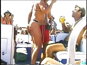 Big bob lady having fun with young