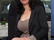 Fernanda Jerson busty mom shows striptease at office