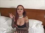 Smoking Big Breasts