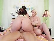 Busty BBW Babes Riding Big Cocks pt. 1