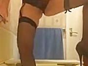 Pissing her panties