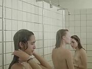 Crazy danish shower teens