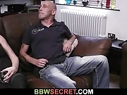 Bbw spreads her legs for married man