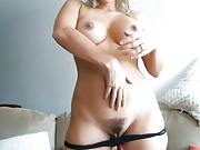 Curvy big hips ass big boobs nipples hairy cameltoe pussy
