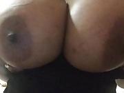 UK Ebony Amatuer Shaking Huge Tits